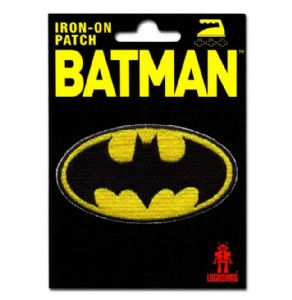 Batman Logo iron-on / sew-on cloth patch   (lsh)